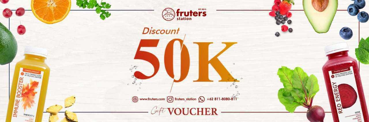 Dapatkan Gratis Voucher 50K dari Fruters Selama Bulan Oktober